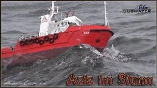 "getlinkyoutube.com-RC Storm ADVENTURE: Offshore Versorger ""Aziz"" im Sturm"