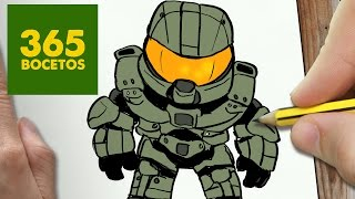 COMO DIBUJAR JEFE MAESTRO KAWAII PASO A PASO , Dibujos kawaii faciles , How to draw a MASTER CHIEF