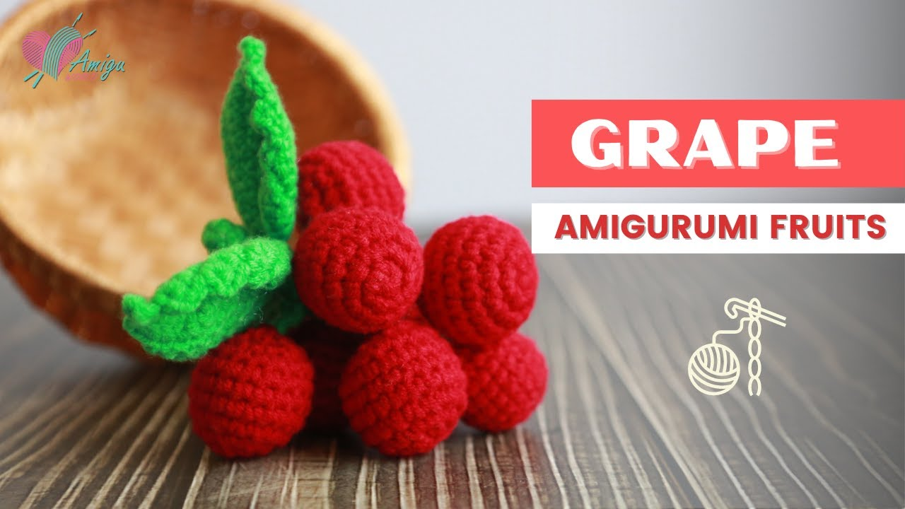 FREE Pattern – Crochet a GRAPE amigurumi for beginner