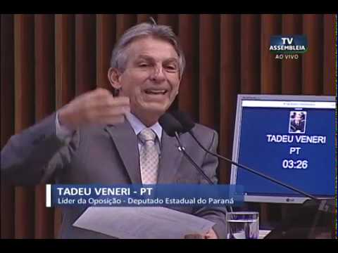 Veneri pede que governo intervenha para impedir reajuste da tarifa de água
