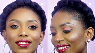getlinkyoutube.com-How To: The Perfect Halo/Goddess Braids On Short Natural Hair