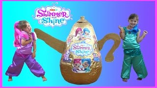 getlinkyoutube.com-Shimmer and Shine Videos Super Giant Golden Egg Surprise | Shimmer and Shine Toys & Dress up video