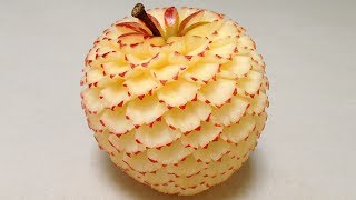 Make Apple Dianthus Flower - Advanced Lesson 22 By Mutita Art Of Fruit And Vegetable Carving