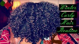 getlinkyoutube.com-My Winter Curly Hair Routine (2016)    Updated Wash N Go