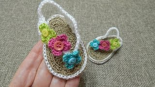 getlinkyoutube.com-Sandalias para Bebe Crochet