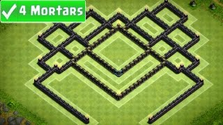 getlinkyoutube.com-Clash of Clans - Best Town Hall 8 Southern Teaser Trophy Base (4 Mortar) Speed Build