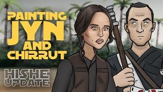 getlinkyoutube.com-Painting Jyn and Chirrut (Rogue One HISHE)