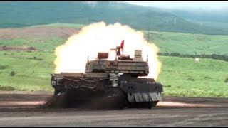 getlinkyoutube.com-10式戦車 スラローム&後退行進射撃、他 2012年8月21日(火) JGSDF New MBT Type 10