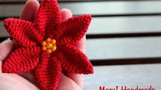 getlinkyoutube.com-Stella di Natale all'uncinetto   How to crochet a poinsettia