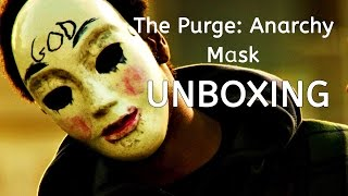 The Purge Anarchy Mask Unboxing  Wearing On Face  Spirit Halloween Haul 2015 Pt1