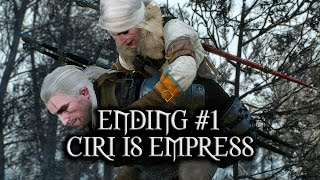 getlinkyoutube.com-The Witcher 3: Wild Hunt - Ending #1 - Ciri is Empress