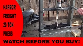 getlinkyoutube.com-Harbor freight 20 ton shop press review 2015