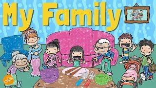 My Family Vocabulary For Kids | Pronouns and Word Contractions | ELF Learning
