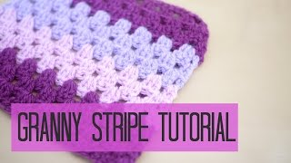 getlinkyoutube.com-CROCHET: Granny stripe tutorial | Bella Coco
