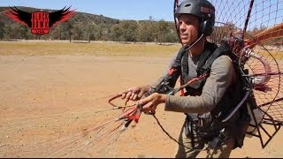getlinkyoutube.com-Powered Paragliding Training Experience at The BlackHawk Paramotor Ranch!