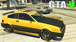 getlinkyoutube.com-Grand Theft Auto V - Customizing Blista Compact [Honda CR-X] and Racing [GTAV] PS4