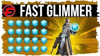 Destiny UNLIMITED GLIMMER FARM FAST GLIMMER FARM Farm 25,000 GLIMMER LESS than 1 hour SUPER FAST