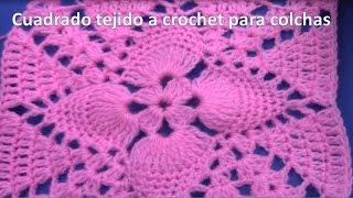 Muestra tejida a crochet # 25 para colchitas de bebe o cubrecamas
