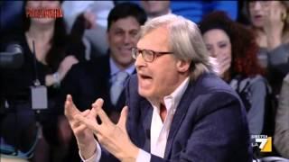 getlinkyoutube.com-Sgarbi sclera a Piazzapulita e blocca la puntata 24 Marzo