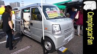 getlinkyoutube.com-【マイクロバカンチェスふたり旅】 ソーラーも40リッター冷蔵庫も電子レンジも、16インチTVまでも標準装備の軽キャンパー Japanese Camper van Campingcar