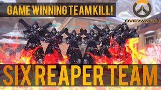 "getlinkyoutube.com-Overwatch: 6 Reaper Team! Game winning ""Team Kill"""