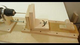 getlinkyoutube.com-Making a horizontal and angle drill mini lathe