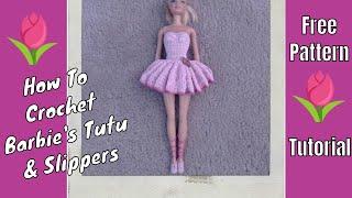 getlinkyoutube.com-Crochet - Barbie's Ballerina Tutu & Slippers