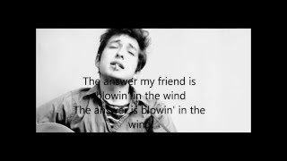 Blowin' In The Wind -Bob Dylan - Lyrics