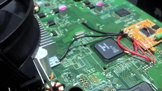 getlinkyoutube.com-Xbox 360 Destravamento RGH demostração do chip e instalação
