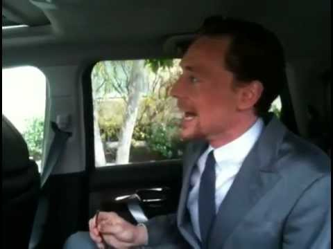 Tom Hiddleston before Avengers premiere