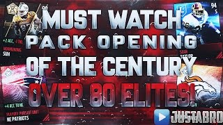 getlinkyoutube.com-OMFG...BEST PACK OPENING OF THE CENTURY! 80+ ELITES PULLED! Most Elites Pulled EVER! Madden Mobile