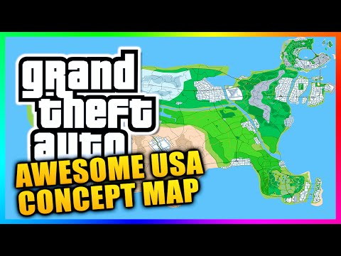 Amazing USA Grand Theft Auto Concept Map Featuring Liberty City, Vice City & MORE!