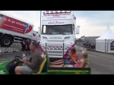 Scania V8 truckstar festifal with woman as driver from swedish 2013