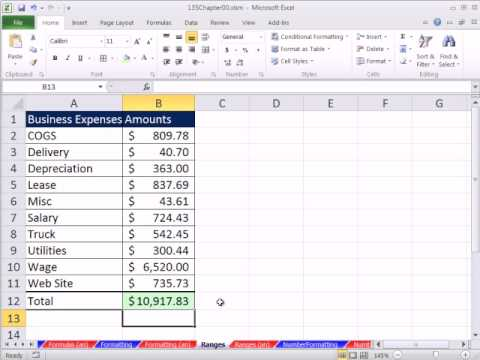 Excel 2010 Business Math 04: Range Functions Rule!