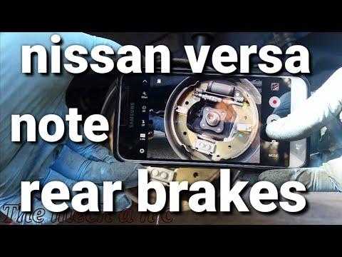 Nissan versa note / micra rear brakes
