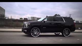 getlinkyoutube.com-2015 Black Chevy Tahoe LTZ on 28 inch Diablo Morpheus Wheels