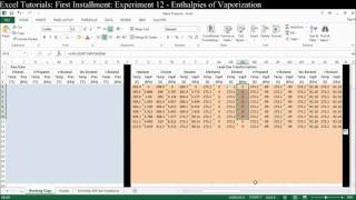 Excel Tutorial #1 - Exp 12