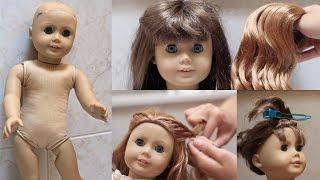 getlinkyoutube.com-Fixing up an old AG Doll!