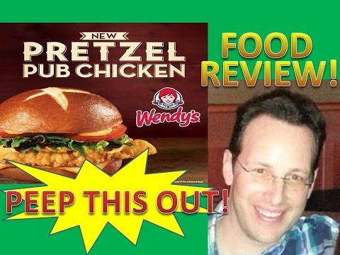 Wendy's Pretzel Pub Chicken Sandwich Review! Peep THIS Out!