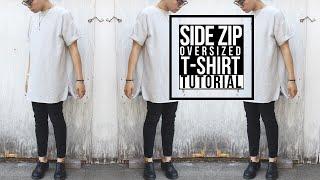 getlinkyoutube.com-DIY: Side Zip Oversized Shirt