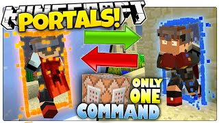 getlinkyoutube.com-Minecraft 1.9 | ULTIMATE PORTAL GUN! | Add Teleports To Your World (Minecraft Custom Command)