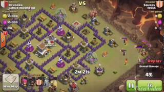 getlinkyoutube.com-Level 2 hogs doing wonders on maxed th8 for 3 star