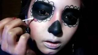Maquillaje Catrina -Calavera Mexicana - Sugar Skull Makeup