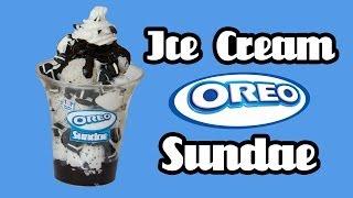 getlinkyoutube.com-Oreo Ice Cream Sundae - Baskin Robbins - Miniature Clay Tutorial
