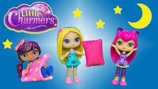 getlinkyoutube.com-LITTLE CHARMERS Nickelodeon Little Charmers Slumber Party Sleepover Surprise Video Parody