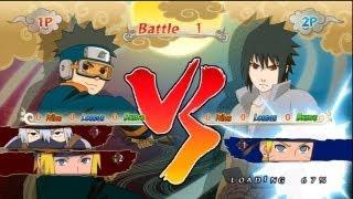 "getlinkyoutube.com-Naruto SUN Storm Generations - PS3 / X360 - Semifinal-2 'Boys on the battlefield' VS ""Best Friends"""