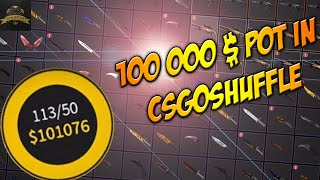 getlinkyoutube.com-100000$ POT IN CSGOSHUFFLE [RECAP]