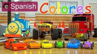 getlinkyoutube.com-Learn Colors (SPANISH) - Colores y coches de carreras con Max, Bill y Pete el camión - TOYS