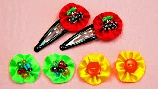 getlinkyoutube.com-Как украсить ЗАКОЛКИ для девочки / Decoration hairpins Tutorial / ✿ NataliDoma