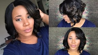 "getlinkyoutube.com-Another Gorgeous Curly Bob | Outre Swiss Lace Front Wig ""Keri"" 